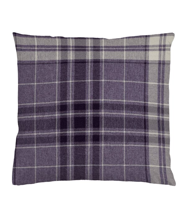 Argyle Burgundy Cushion