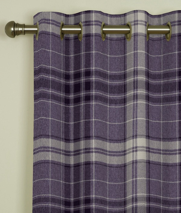 Argyle Burgundy Eyelet Curtains