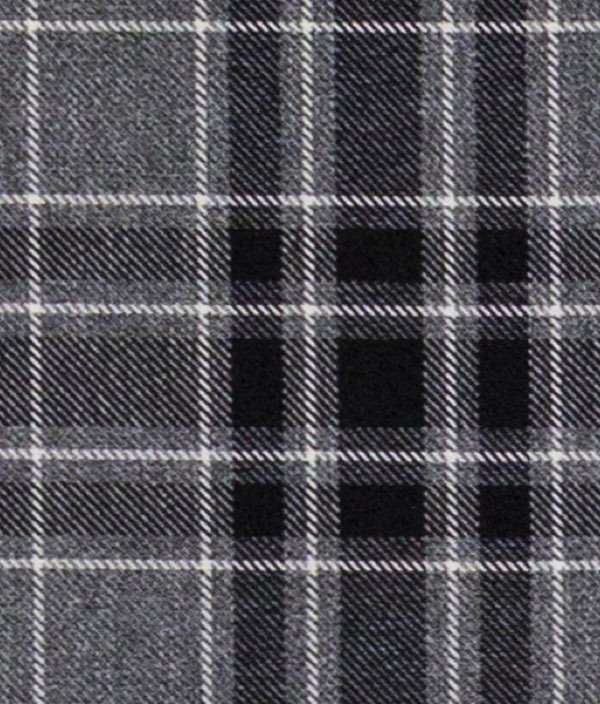 Argyle Charcoal Fabric by the Metre