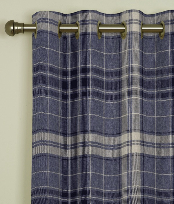 Argyle Denim Eyelet Curtains