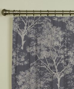Charnwood Charcoal Pencil Pleat Curtains