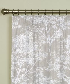 Charnwood Stone Pencil Pleat Curtains