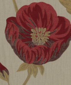 Freesia Red Fabric by the Metre
