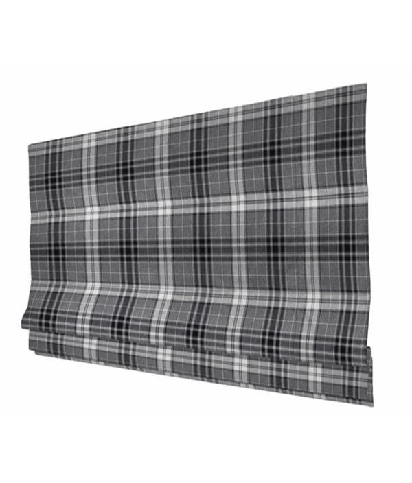Argyle Charcoal Roman Blind