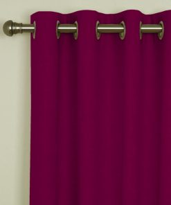 Sicily Fuchsia Eyelet Curtains