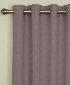 Sicily Mauve Eyelet Curtains