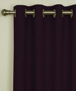 Sicily Plum Eyelet Curtains
