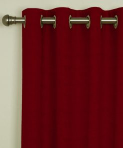 Sicily Red Eyelet Curtains
