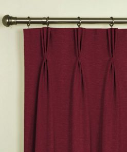 Trento Claret Pinch Pleat Curtains