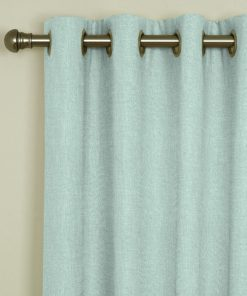 Tuscany Aqua Eyelet Curtains