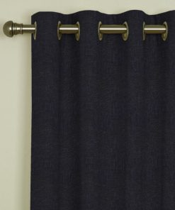 Tuscany Charcoal Eyelet Curtains