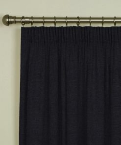 Tuscany Charcoal Pencil Pleat Curtains