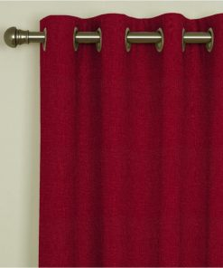 Tuscany Claret Eyelet Curtains