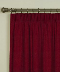 Tuscany Claret Pencil Pleat Curtains
