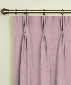 Tuscany Dusky Pink Pinch Pleat Curtains
