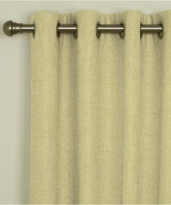 Tuscany Hessian Eyelet Curtains