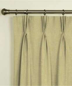 Tuscany Hessian Pinch Pleat Curtains