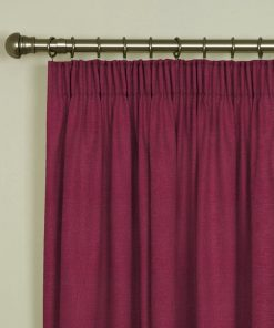 Tuscany Lipstick Pencil Pleat Curtains