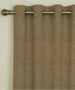 Tuscany Mink Eyelet Curtains