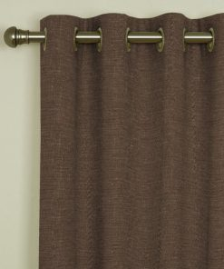 Tuscany Mocha Eyelet Curtains
