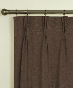 Tuscany Mocha Pinch Pleat Curtains