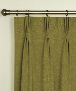 Tuscany Olive Pinch Pleat Curtains