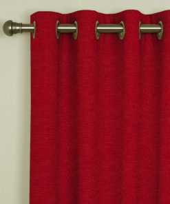 Tuscany Red Eyelet Curtains