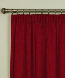 Tuscany Red Pencil Pleat Curtains