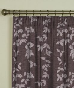 Willow Heather Pencil Pleat Curtains