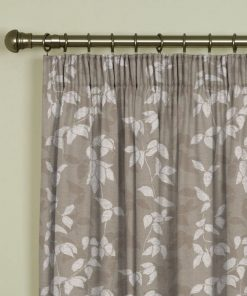 Willow Taupe Pencil Pleat Curtains