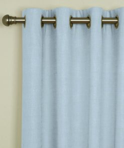 Sicily Powder Blue Eyelet Curtains