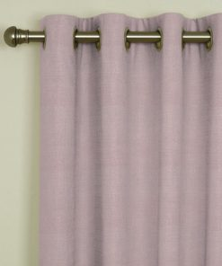 Sicily Powder Pink Eyelet Curtains