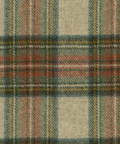 Moons Turnberry Check Terracotta Fabric by the Metre