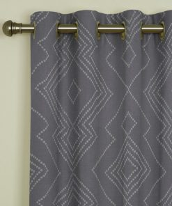 Libby Charcoal Eyelet Curtains