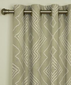 Libby Taupe Eyelet Curtains