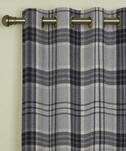 Tavistock Grey Eyelet Curtains