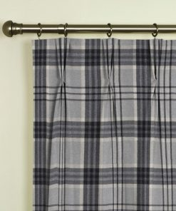 Tavistock Grey Pinch Pleat Curtains