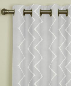 Ziggy Silver Eyelet Curtains