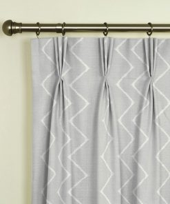 Ziggy Silver Pinch Pleat Curtains