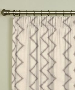 Ziggy Taupe Pencil Pleat Curtains
