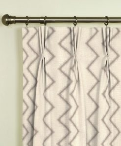 Ziggy Taupe Pinch Pleat Curtains