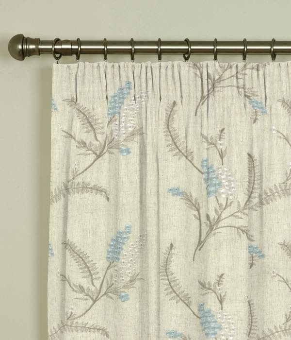 Arabella Duckegg Pencil Pleat Curtains