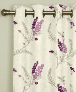 Arabella Heather Eyelet Curtains