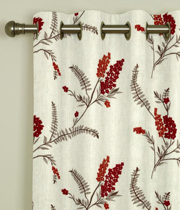 Arabella Spice Eyelet Curtains