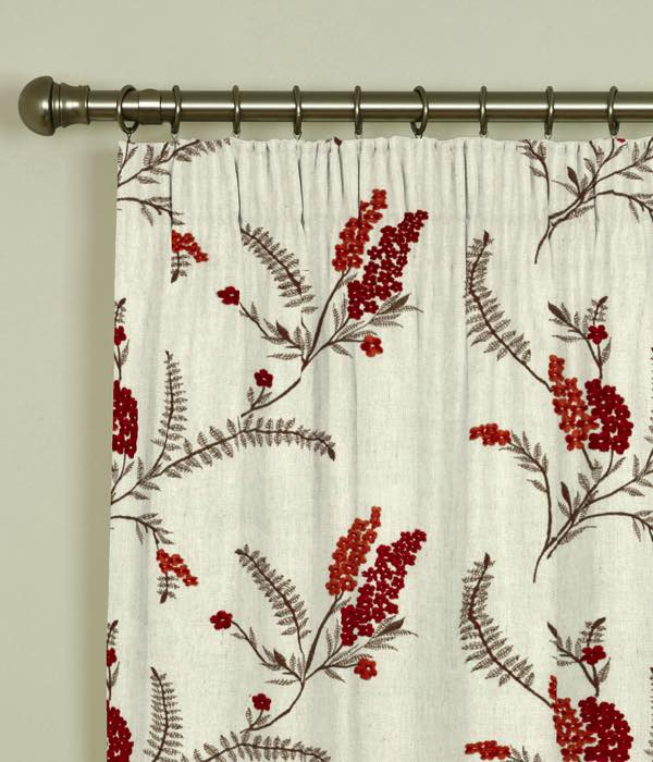 Arabella Spice Pencil Pleat Curtains