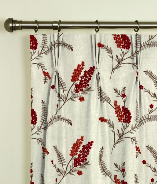 Arabella Spice Pinch Pleat Curtains