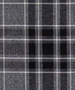 Argyle Charcoal Fabric Pelmet
