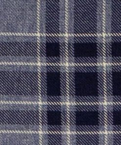 Argyle Denim Fabric Pelmet
