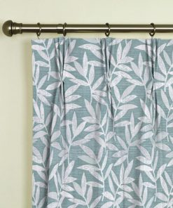 Ashton Teal Pinch Pleat Curtains