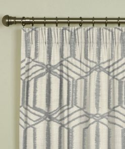 Byron Silver Pencil Pleat Curtains